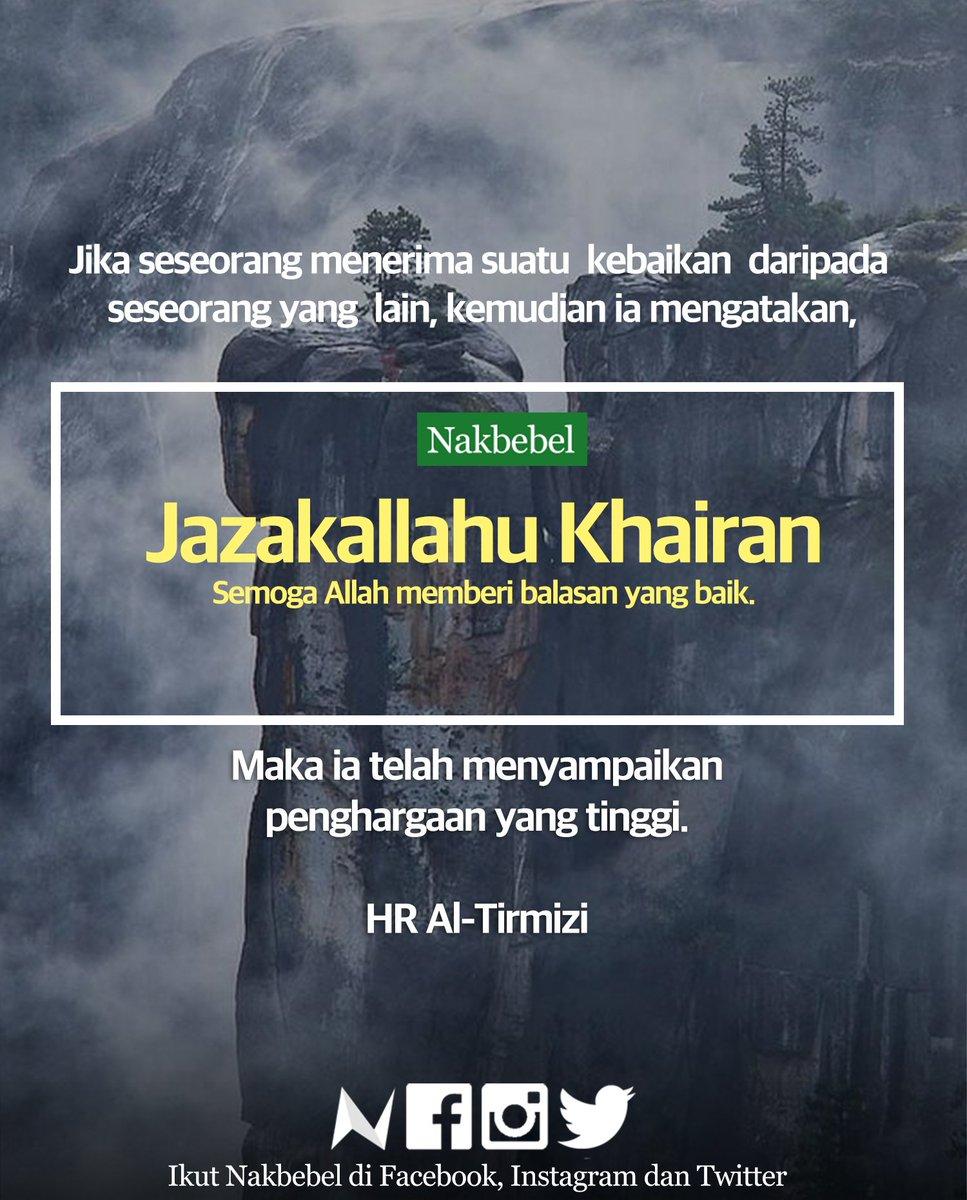 Jazakallah Khairan Katsiiraa Arab : jazakallah, khairan, katsiiraa, Balasan, Jazakallahu, Belajar