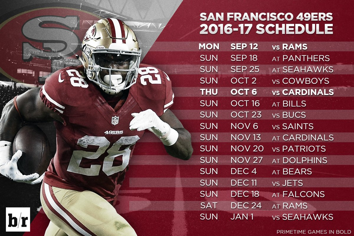 image regarding 49ers Schedule Printable identify 20+ 49ers Timetable Pics and Designs upon Weric