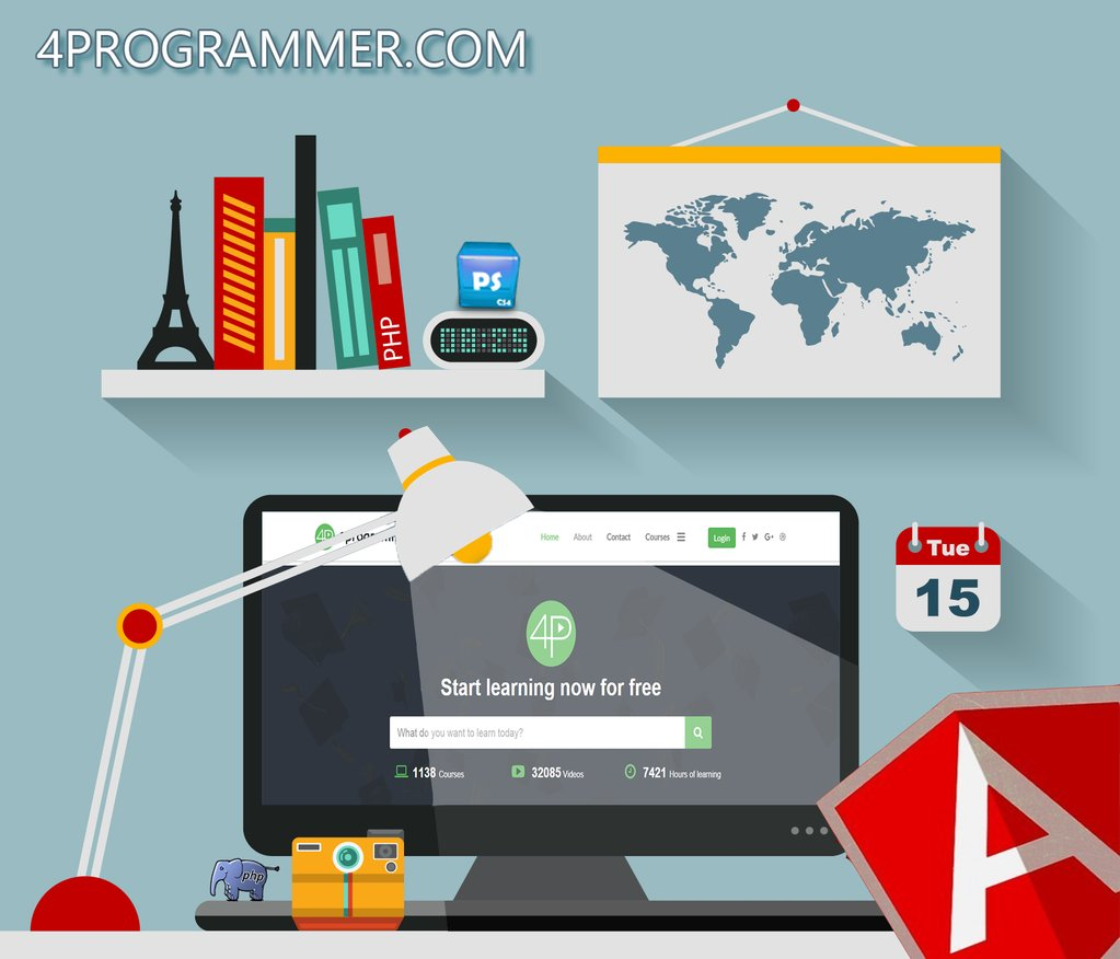 4Programmer, The 1200+ #Free #Tutorial Site  Join us today   #photoshop #angularjs #php #html
