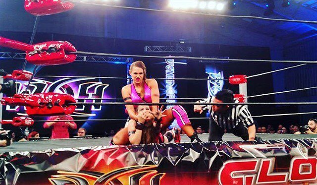Women Of Honor in action now! Who's ready for @ringofhonor #GLOBALWARS?! #WatchROH #ROH #R…