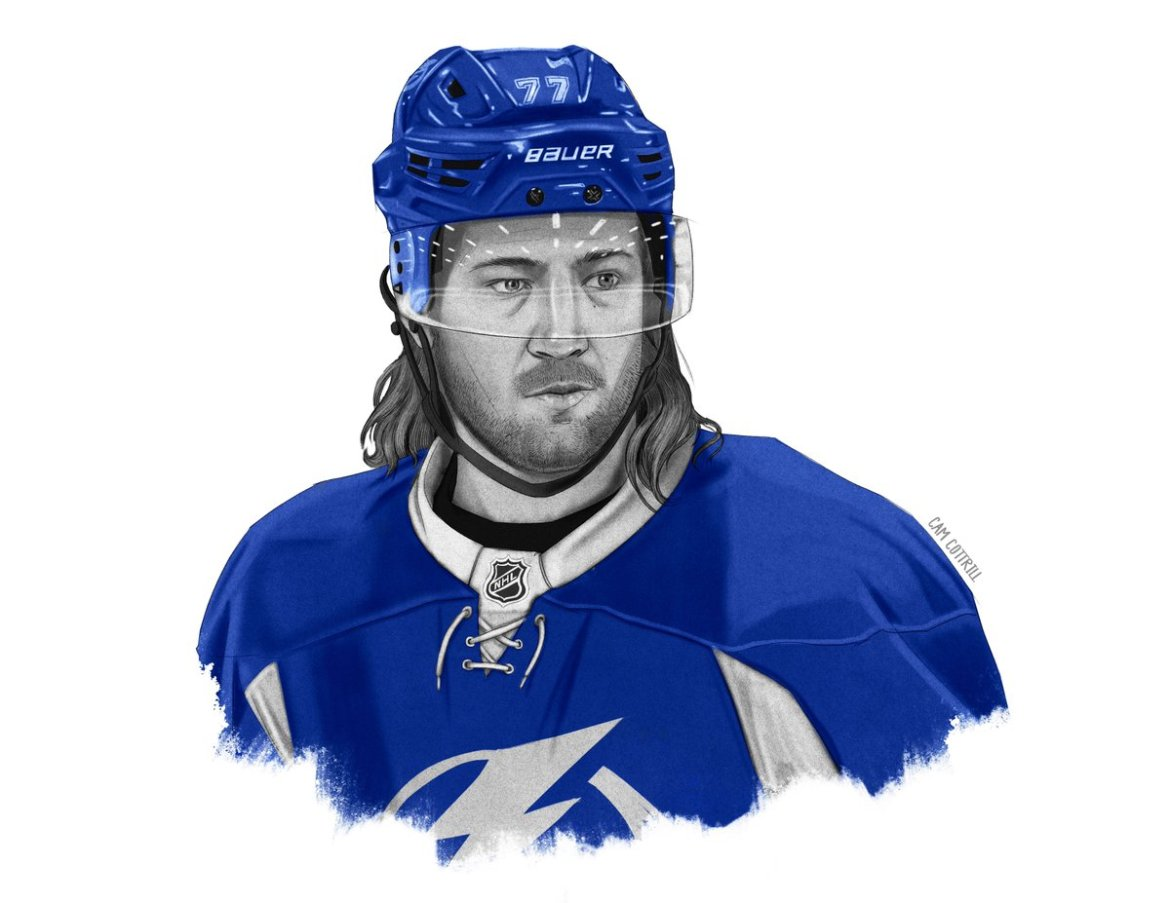 ICYMI, here's our exclusive illustration of #TBLightning defenseman Victor Hedman.  #GoBolts