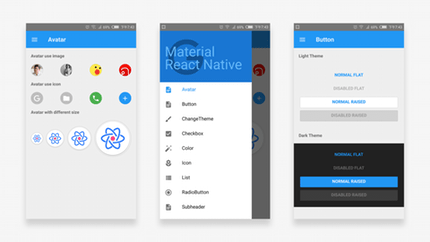 MRN: A Material Design style React Native component library.  via @evivz