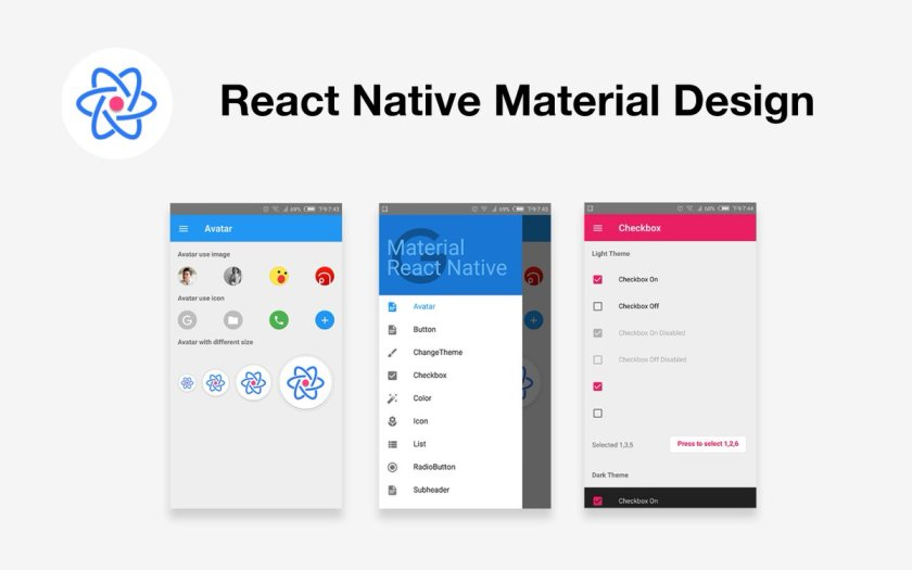 MRN: Open Source React Native Library for Material UI. Courtesy of @h13i32maru #JavaScript