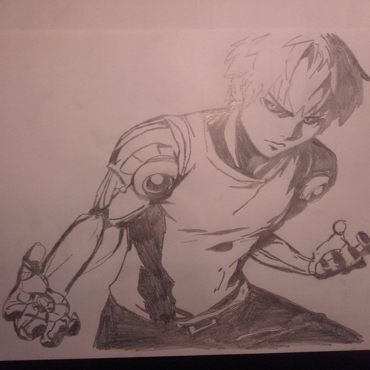 Ju On Twitter Genos One Punch Man Genos Dessin Drawing Onepunchman