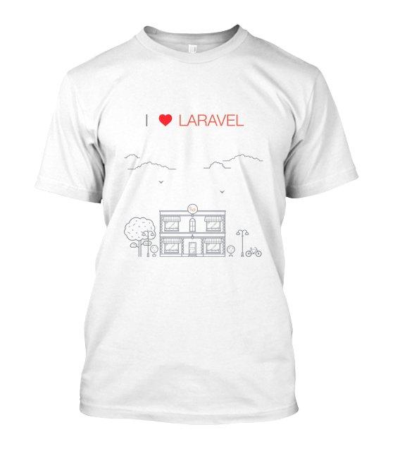I love Laravel! A Laravel PHP shirt for you!    #laravel #php #angularjs #jquery #reactjs #js