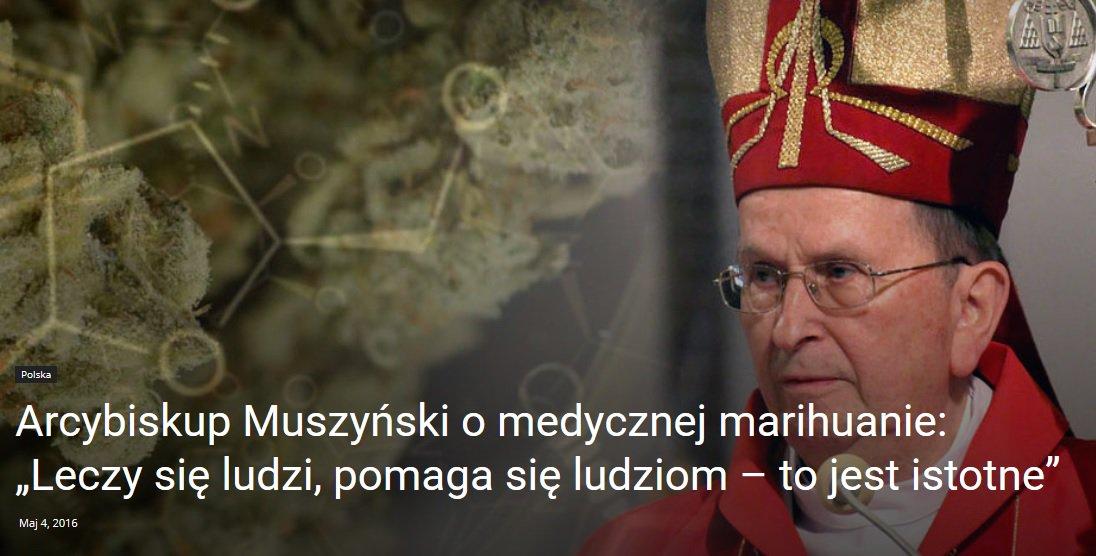 Arcybiskup Muszyński o medycznej marihuanie: Jeżeli coś pomaga w leczeniu, nie może być złe