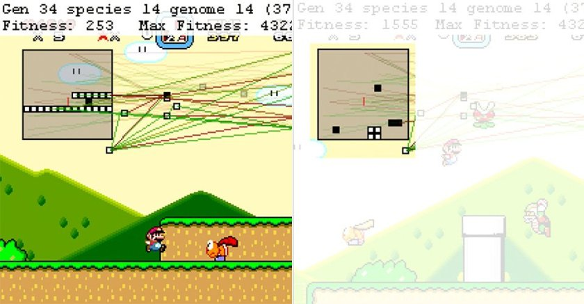 #ArtificialIntelligence uses neural networks to master Super Mario World, #Skynet may ensue.
