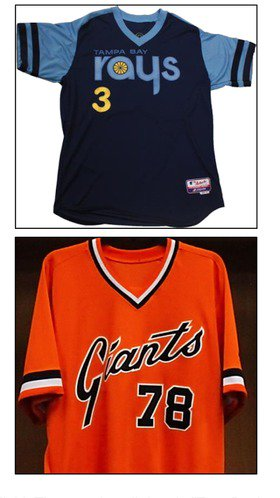 YES!  Rays, Giants to go '70s retro for June 18 Turn Back the Clock game