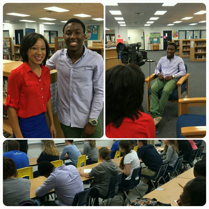Stephanie Claytor, from Bay News 9, interviewed Menelik Graham. Catch it at  5:00pm. .