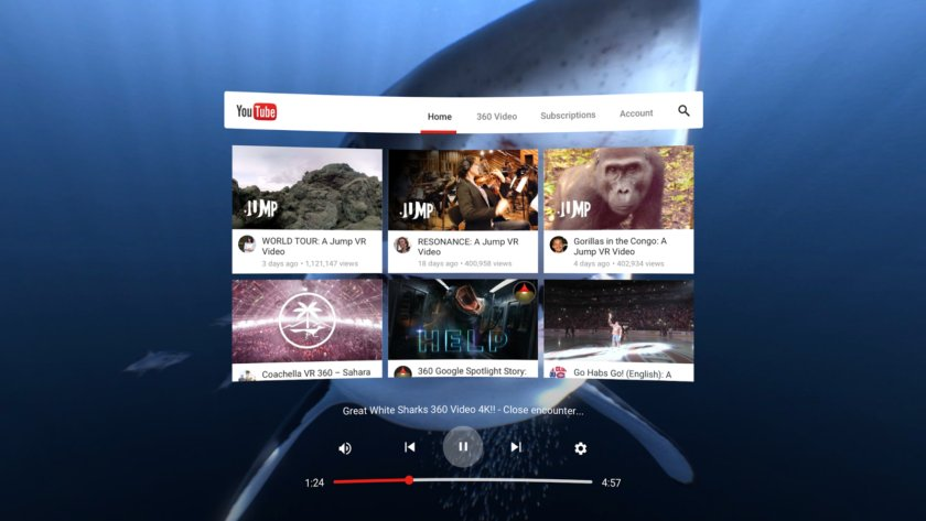 Here's what #youtube's virtual reality app will look like