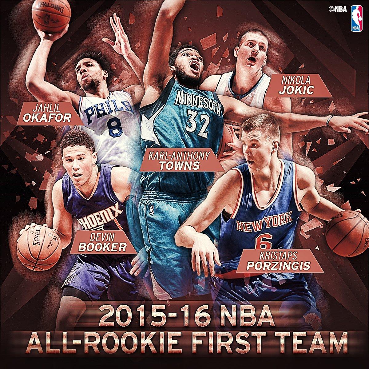 2015-16球季年度最佳新秀陣容出爐 | NBA賽場 | 籃球地帶 - fanpiece