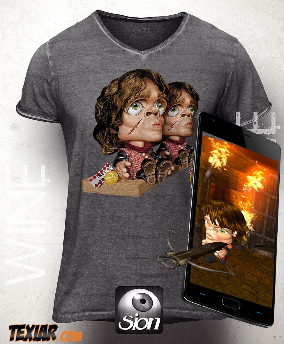 Game Of Thrones Inspired #AugmentedReality #SionAR Tyrion T-Shirt #tshirt #tee #camisetas