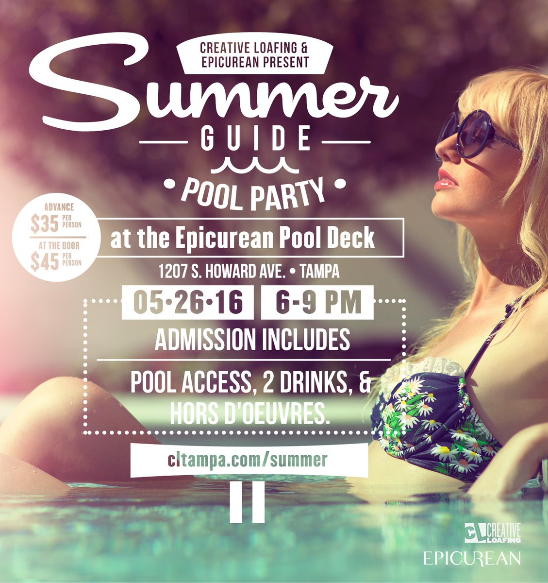 Our Summer Guide Pool Party at @EpicureanHotel is in less than a week! Visit  for tickets.
