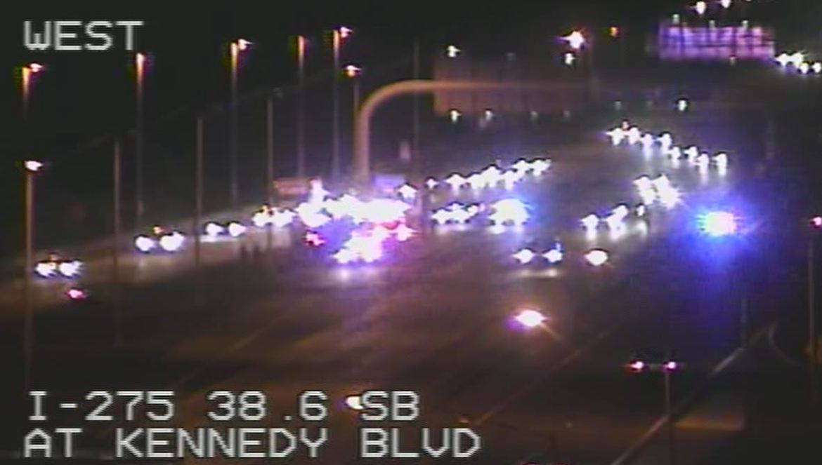 #BREAKING | Police: Shooting injures motorcyclist on northbound I-275 in Tampa. MORE: