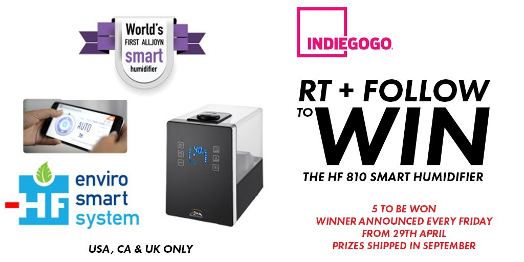 You could #win a #Smart humidifier real soon! F+RT by Friday to enter!  #deals #giveaway #iot