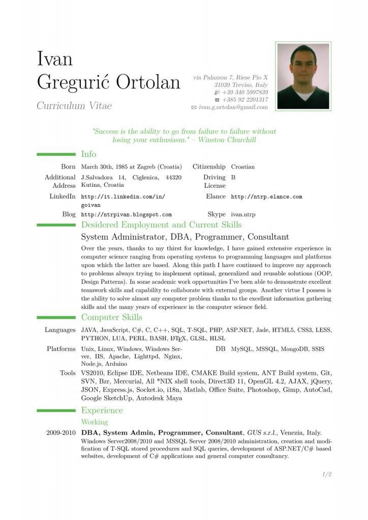 download professional resume format