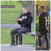 Caught Camera - Justinbieber Enjoying Park In #
