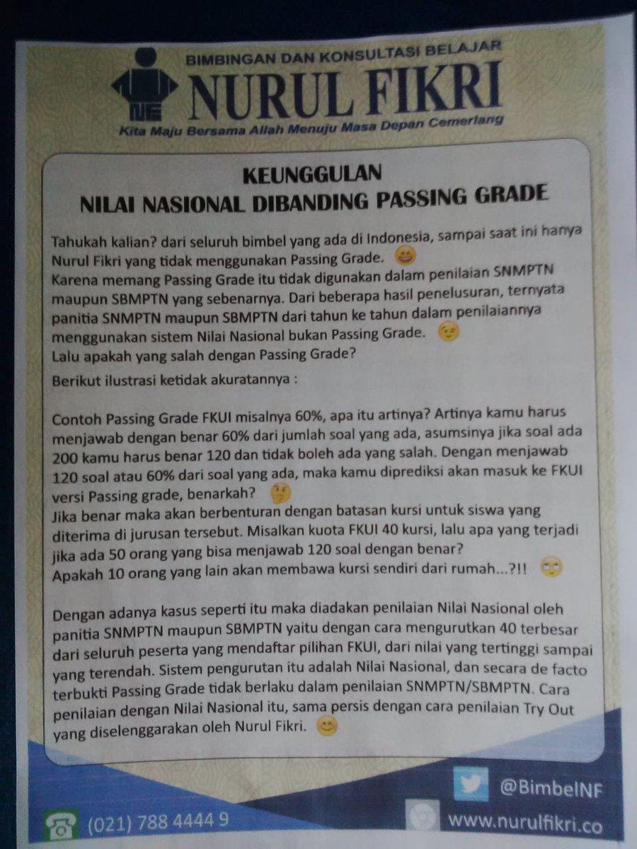 Arti Passing Grade : passing, grade, Bimbel, Nurul, Fikri, Tahun🥳, Twitteru:, Passing, Grade?, Nilai, Nasional?…