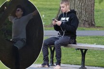 Justin Bieber Sits In Tree Boston Park Walked