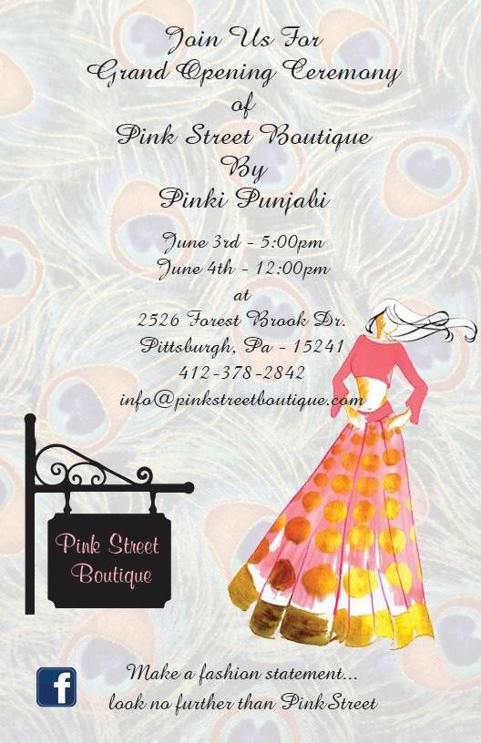 pinki punjabi pinkipunjabi twitter boutique grand opening invitation card