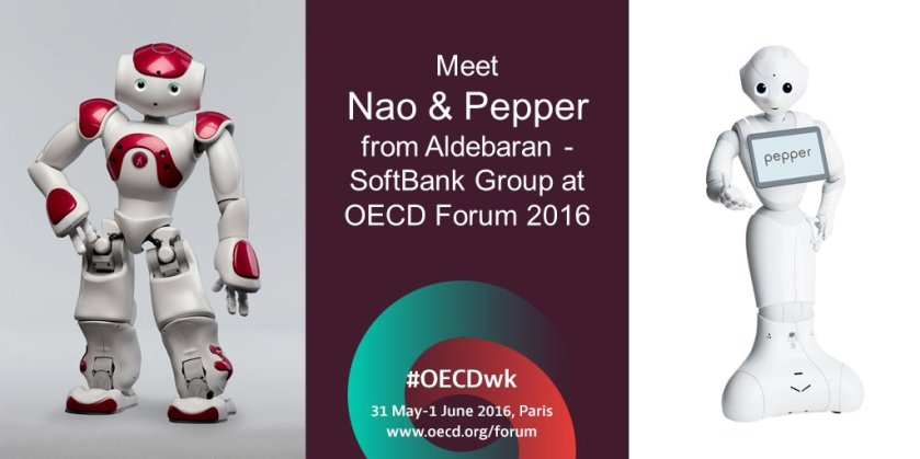 How can interactive #robots Nao & Pepper assist in education & care? Find out at #OECDwk  #AI