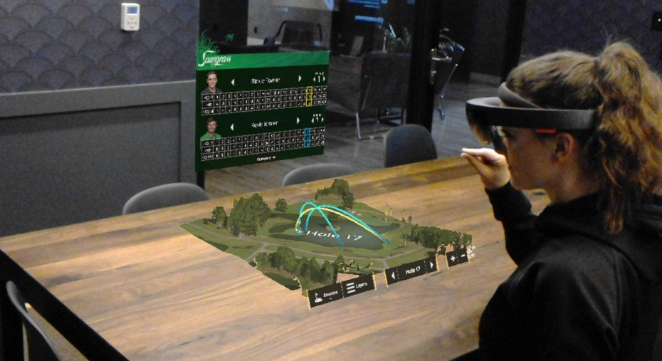 This @HoloLens Golf Demo Lets You See Best Tee-Off locations, Hazards and Holes #AR