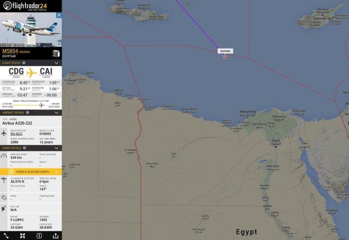 Αεροσκάφος της EgyptAir που απογειώθηκε από το Παρίσι εξαφανίστηκε από τα ραντάρ