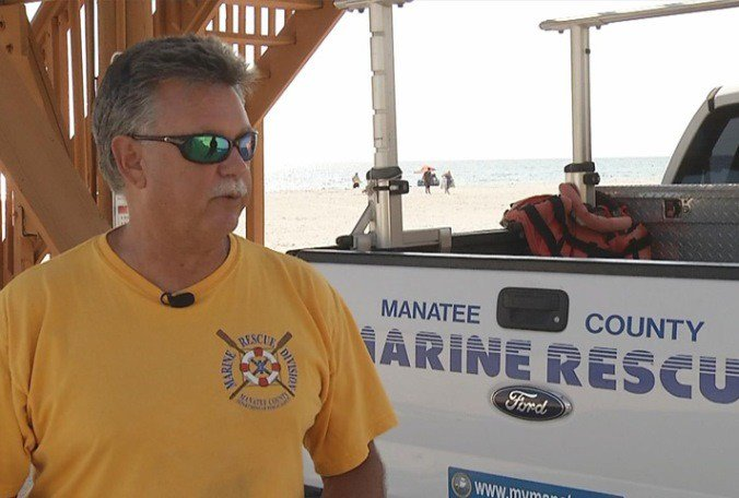Meet Rex Beach, who has been a Manatee County lifeguard for 40 years. What a fitting name.