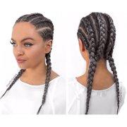 gray hair cornrow styles grey