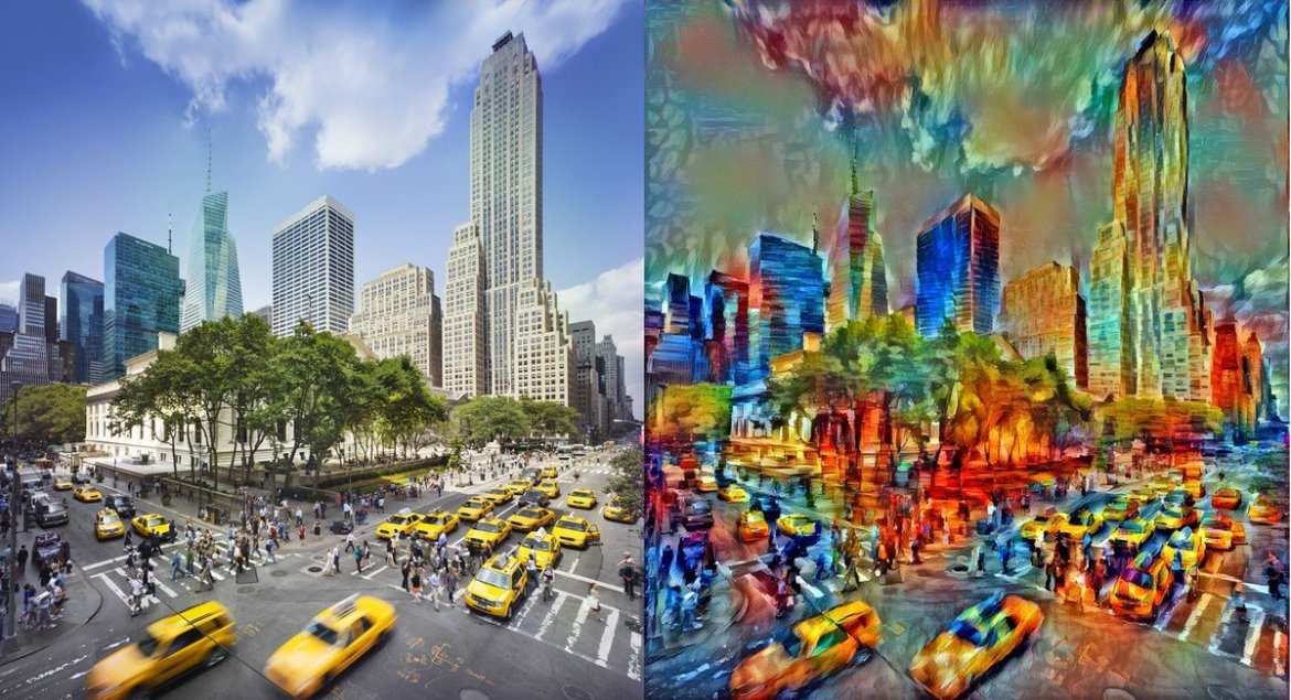 Machine Learning meets art in #TensorFlow. Beautiful! Works out of the box, too.