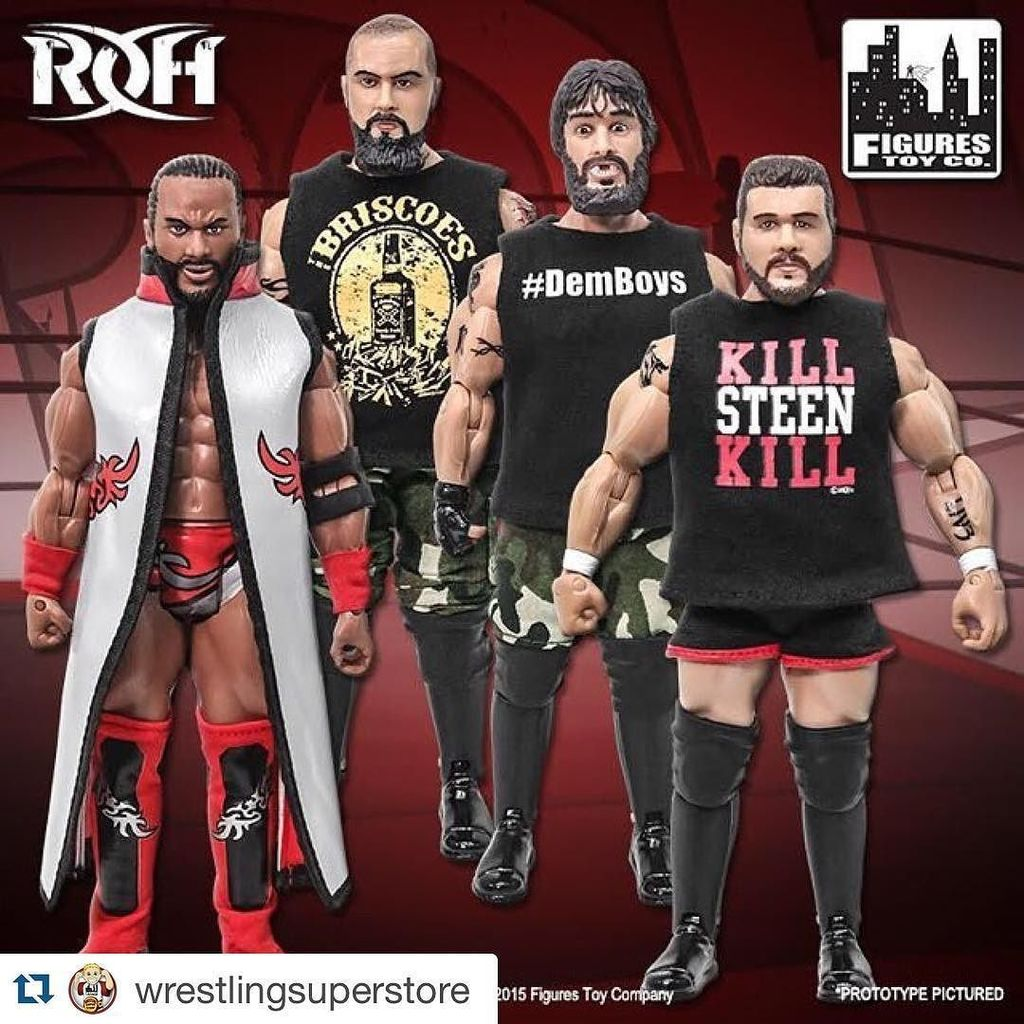 #Repost @wrestlingsuperstore with @repostapp. ・・・ PRE-ORDER NOW! @ringofhonor Series 1 act…
