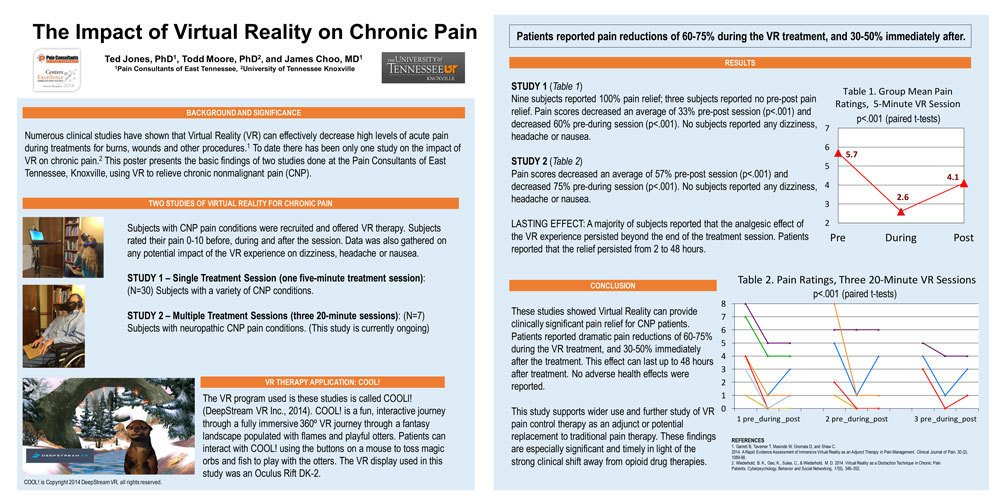 DeepStream #VR |   NEW DATA Shows VR Provides Relief for Chronic Pain Patients