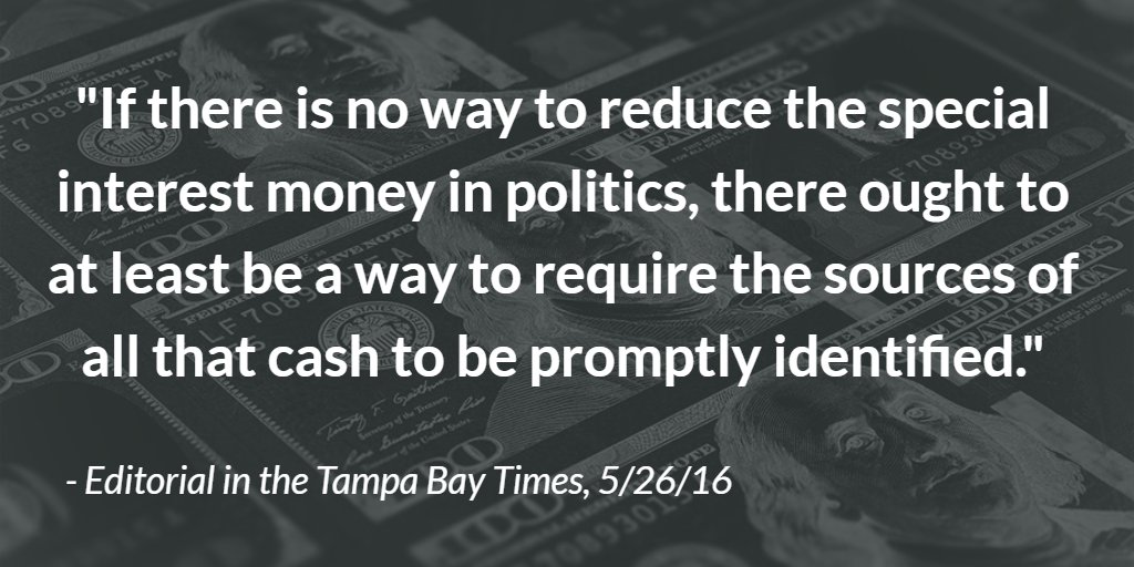 .@TB_Times condemns influence of #darkmoney, advocates for disclosure of anonymous cash: