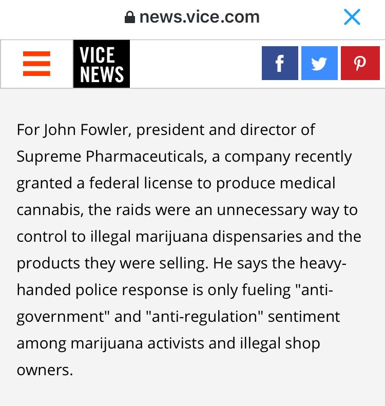 I've got to say, these are sensible comments by @supremepharma LP president @john_fowler_jd: