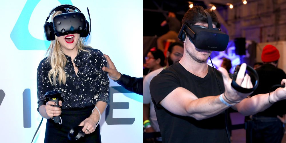 .@ChloeGMoretz and @RobbieAmell got to test out Alienware's cool new virtual reality games!