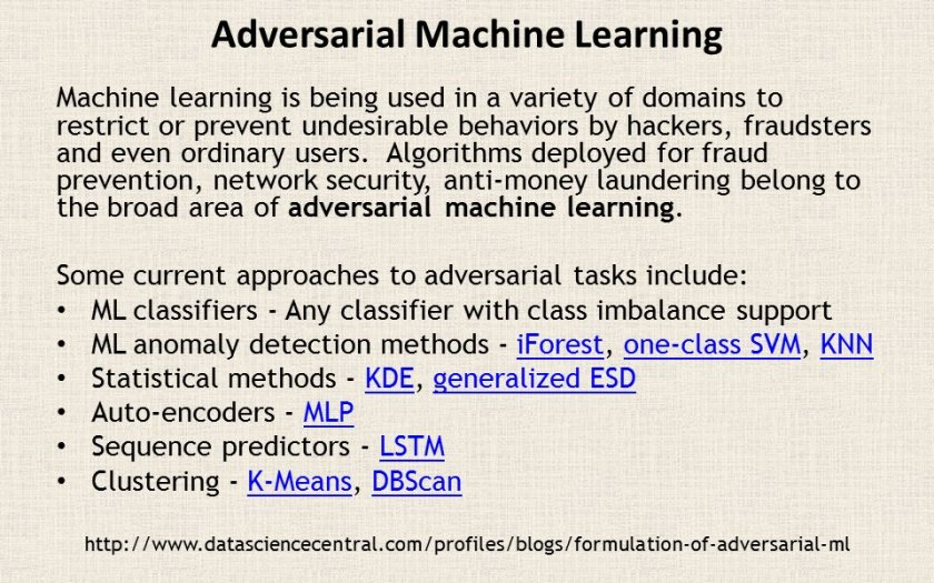 Formulation of Adversarial #MachineLearning:  #abdsc #BigData #DataScience by @startupml