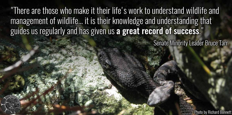 Thank you @senbrucetarr for supporting rattlesnake conservation in Massachusetts! #StandWithScience #SnakeHero