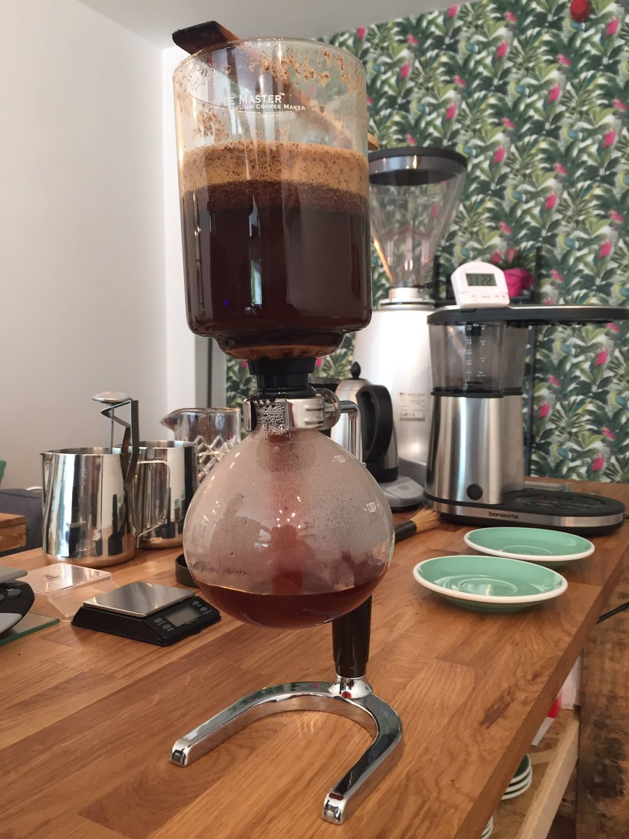 The Specialty @NotACoffeeChain  Jun 7 The #syphon is back!And the Kenya fully washed process is tasting sweet!! #coffeepassion #coffeelove #nottscoffee
