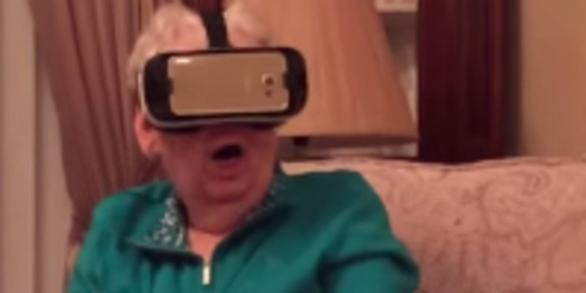 Grandma's Freak Out Over Virtual Reality Session Is Comedy Gold  #vr
