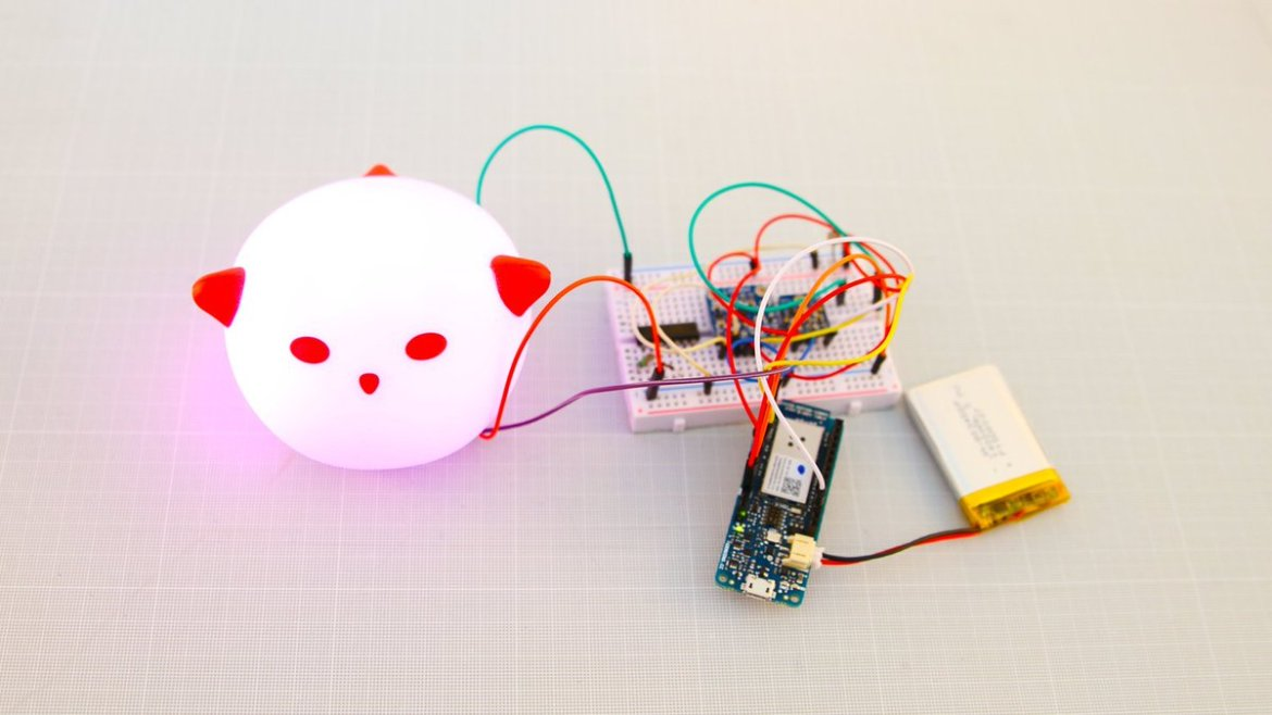 Hacking an @IKEA Spöka night light with the Arduino MKR1000: