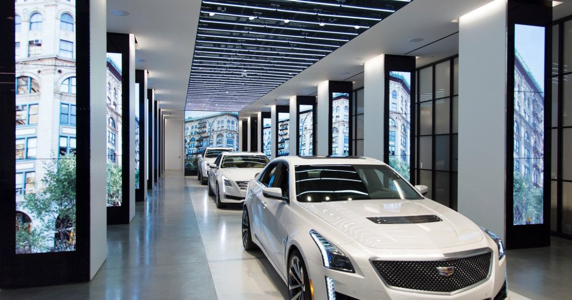 Where are the cars? @Cadillac may add #VR showrooms to its dealership network