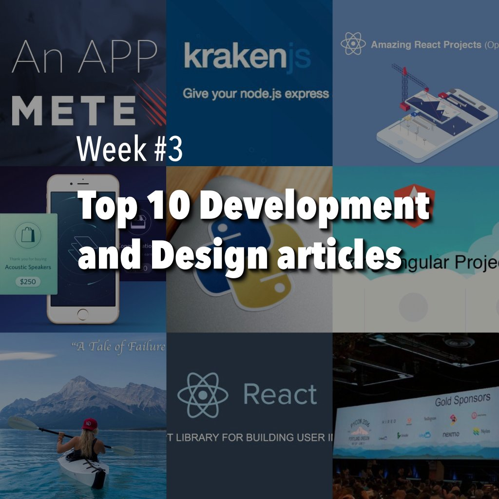 Our Top 10 #development and #design articles with some #reactjs, #angularjs and + inside 👍