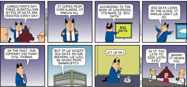 Dilbert's 20 funniest cartoons on #BigData  #humor #dilbert