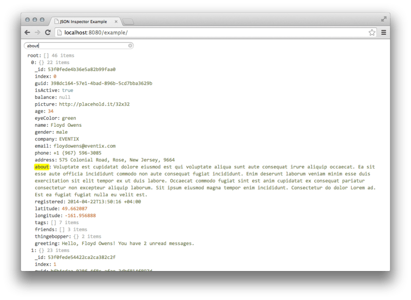 nicely done #json inspector / viewer using #reactjs #js -  #javascript