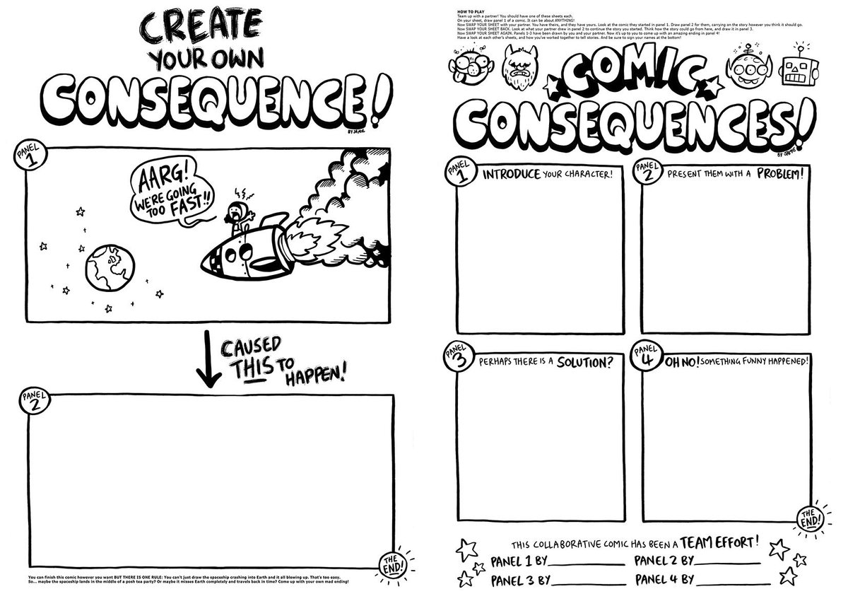 Jamie Smart On Twitter Comic Worksheets From My Recent