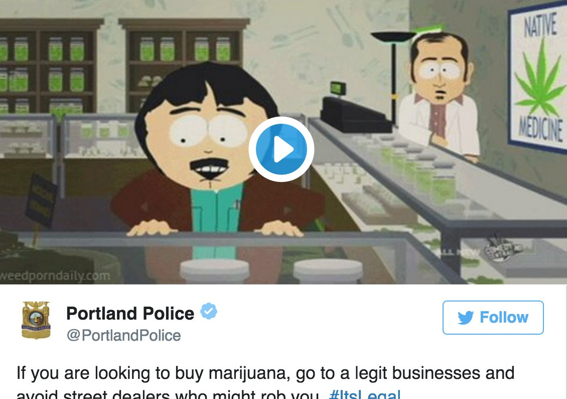 Yes, the #Portland Police are helping citizens find their #weed |  via @mjdotc