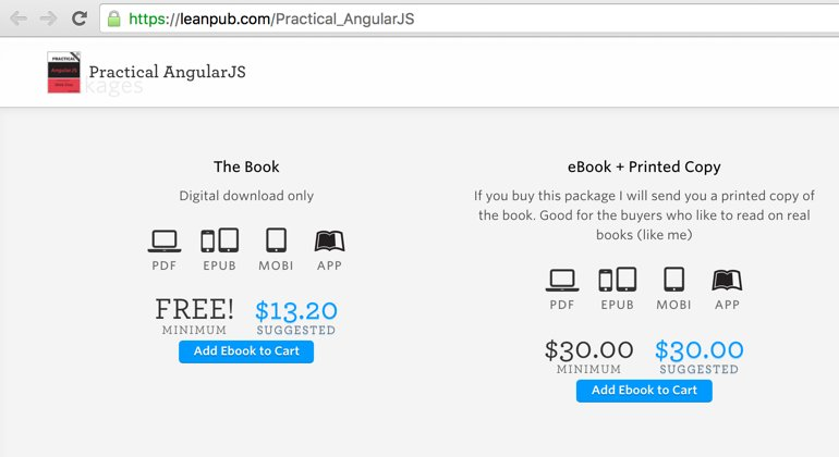 Added new sales package to . You can now buy printed version of the Practical @angularjs book
