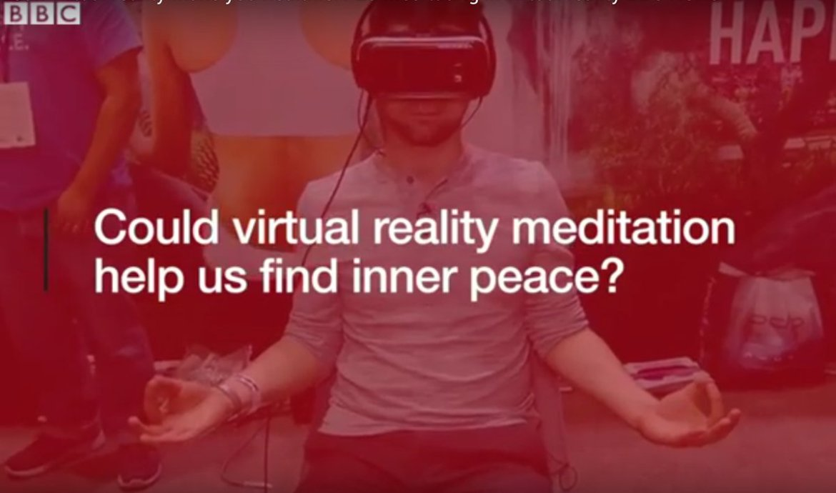 The @BBC meditates in #VR at #E3 with @MeditationVR! -