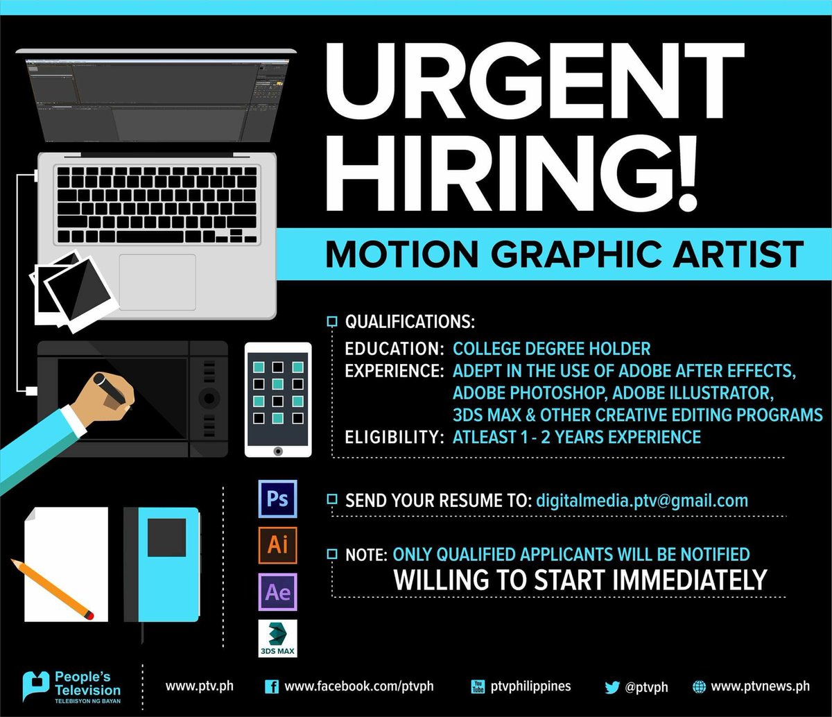Motion Graphics Resume We 39re Hiring Motion Graphic Artist Send Ur Resume To