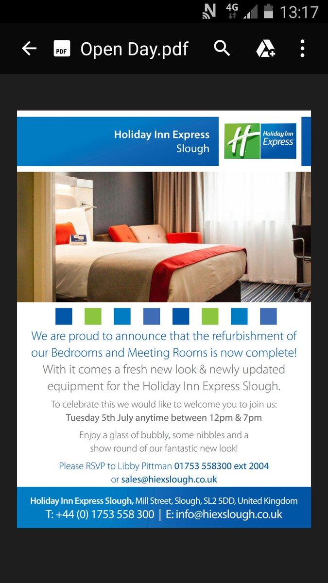 Holiday Inn Express Hiex Slough Twitter